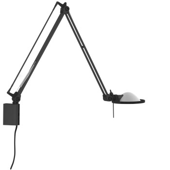 Luceplan Berenice Parete Piccola, Struktur schwarz, Glasreflektor weiß satiniert