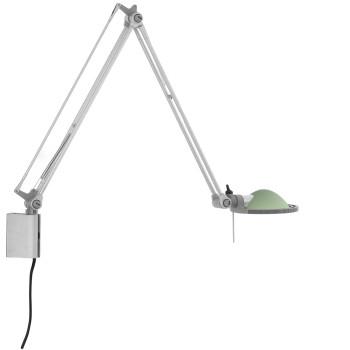 Luceplan Berenice Parete Piccola, Struktur Alu, Glasreflektor salbeigrün