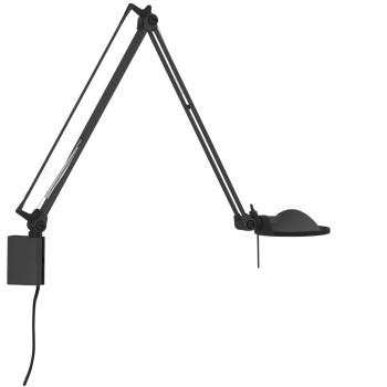 Luceplan Berenice Parete Piccola, Struktur schwarz, Metallreflektor schwarz