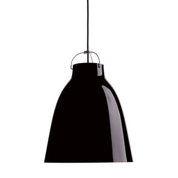 Fritz Hansen Caravaggio P3, schwarz hochglänzend, mit schwarzem Kabel