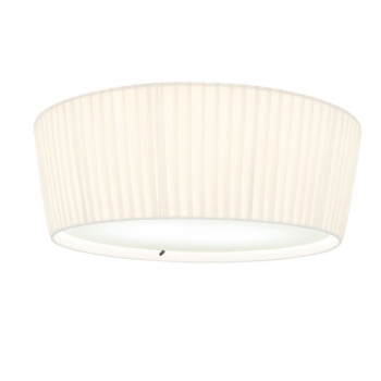 Bover Plafonet 43, white ribbon shade