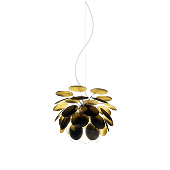 Marset Discocó 35, außen schwarz / innen goldfarben